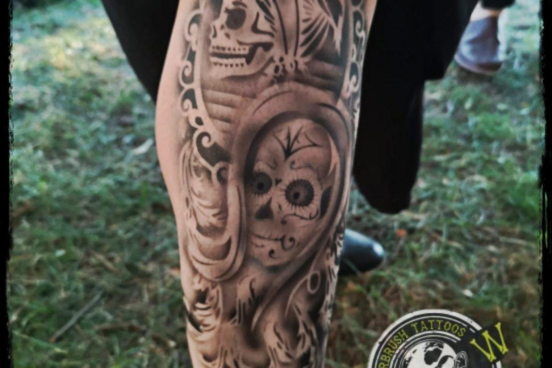 Airbrush Tattoo Bein